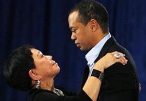 Tiger Woods and his mom-Getty Images