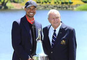 Tiger & Arnie - Getty photo